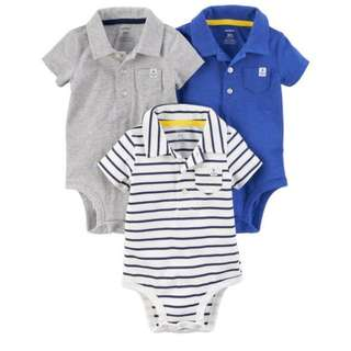 Carter's Polo bodysuits