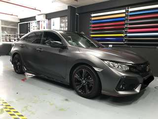 Civic hatchback full wrap 3M 1080 Satin dark grey!!