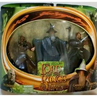 Lord of the Rings Boromir, Orc and Gandalf with hat (Mint-in-a-box)