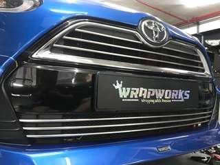 Toyota sienta grille gloss black wrap!