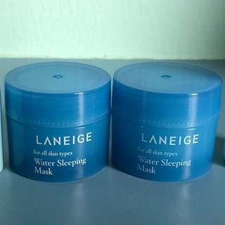 Laneige Water Sleeping Mask (2 small tubs) (New)