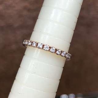 18K diamond rose gold ring 玫瑰金鑽石戒指