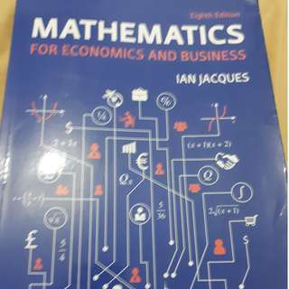 Mathematics for Economics and Business 8th Edition Ian Jacques