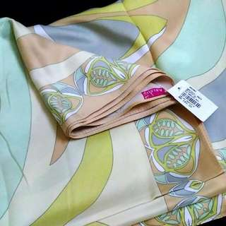 (NEW) Ariani satin square hijab bidang 45'