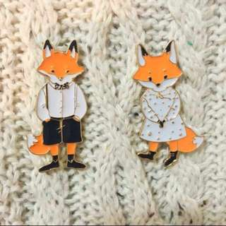 Fox Enamel Pin (Re-Stock)