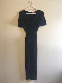 "Rodeo Show 'Elona"" Drape Dress. Size 10. Navy."