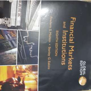 Financial Markets and Institutions 8th Edition Frederic Mishkin
