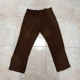 St Yves Brown Woman Pants ( Celana Panjang )