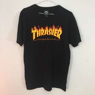 Black Thrasher T-shirt Flame