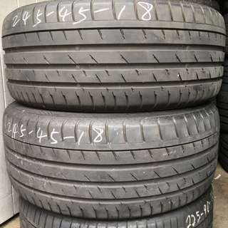 Pre-Owned Continental Sports Contact 3 Runflat 245/45/18 Tyre