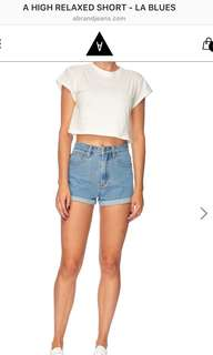 Abrand Denim High Relaxed Shorts