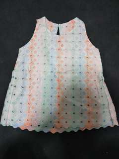Brand New Eyelet Babydoll Top (for kids!)