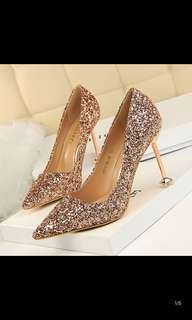 Bridal Glitter Heels