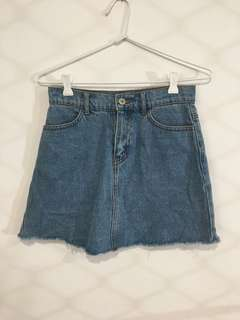 Brandy Melville Blue Denim High Waisted Skirt