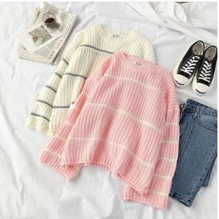 Sweater stripe rajut