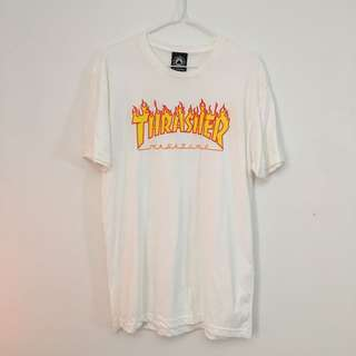 White Thrasher T-shirt Flame