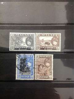 Kedah 1957 State Def 4V (0452)