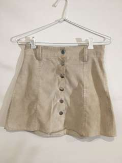 Noughts & Crosses Beige Button Up Skirt