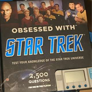 Obsessed with star trek trivia book