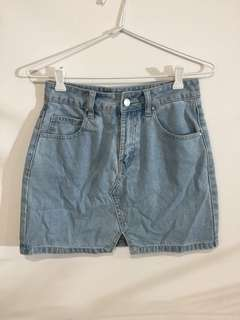 Used Denim High Wasited Skirt