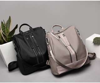 2 Way Water Repellent Backpack Sling Backpack with Earphone Hole Ready Classic Best Quality Bag