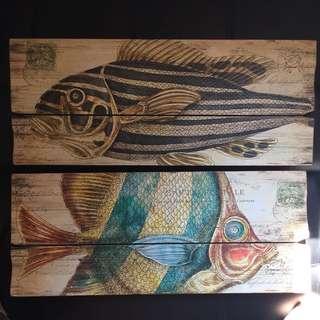 家品,擺設,掛畫,魚