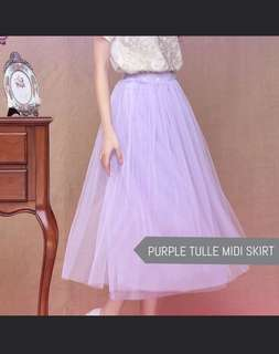 Tulle Maxi Mesh Skirt in Lilac Purple rom bridesmaid