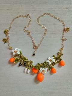 Orange Blossom Les Nereides Inspired Fruit Floral Necklace