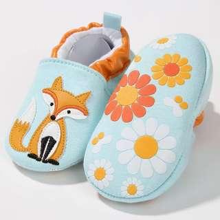 Baby Shoes Fox print soft sole 0-6M