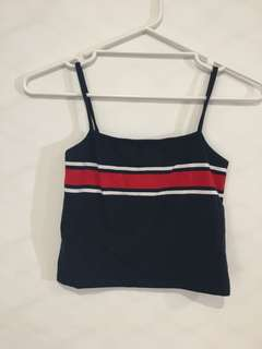 Brandy Melville Navy, Red & White top