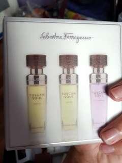 Salvatore Ferragamo Tuscan Soul perfume (15ml each)