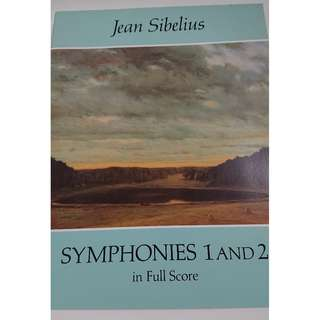 Orchestral Score: Sibelius - Symphonies No. 1 and 2 Full Score - Dover