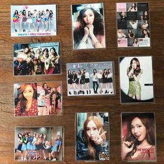 SNSD & JESSICA LAMINATED CARDS