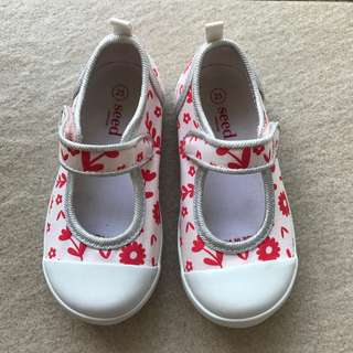 (Size 25) Almost New Seed Flower Shoes