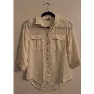 H&M Button up Shirt (White)