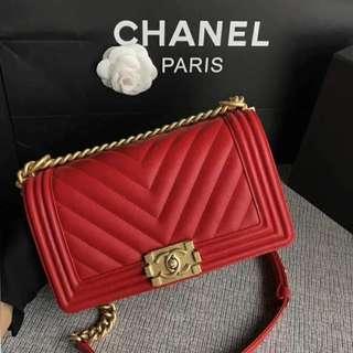 Chanel Chevron Le Boy 25cm