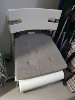 White chair with cushion from Ikea
