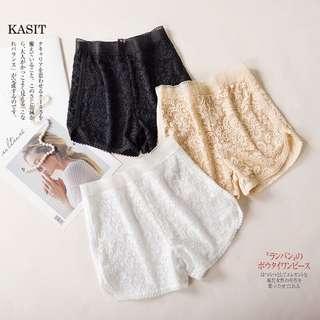 代購❤️日本質感高腰蕾絲內搭褲/安全褲