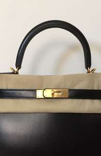 Hermes Kelly28 Sellier Black Box GHW BNIB