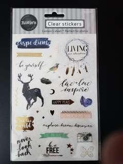 [INSTOCK] BN Clear Stickers (deer)