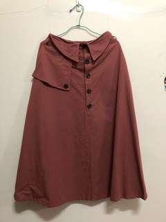 磚紅色長裙