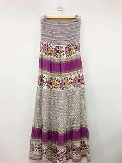 Magazine Multicolor Maxi Floral Tube Dress