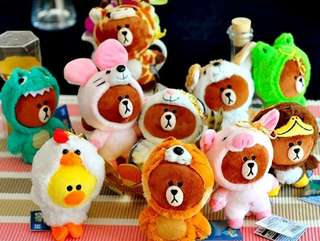 *Clearance* Line Friends Jungle Brown Plush Toy collection