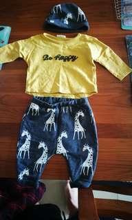 英國Next 嬰兒三件式服裝