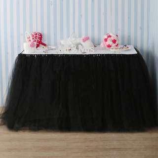 [Rent] Black tutu table skirt