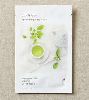 Innisfree My Real Squeeze Mask - Green Tea 20 pcs