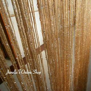 Metallic String Curtains