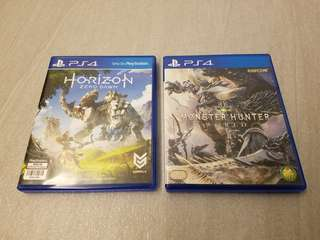 PS4  Monster hunter  &  Horizon
