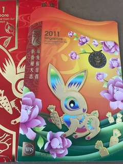 Singapore 2011 rabbit hongbao uncirculated Coin set