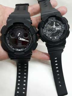 GSHOCK BLACK COUPLE WATCH